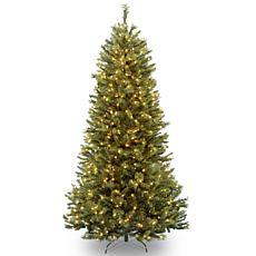 7.5 ft. Rocky Ridge Sliim Pine Tree with Clear Lights
