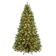 7 5 Pre Lit Teton Pine Artificial Christmas Tree 600 Clear Lights