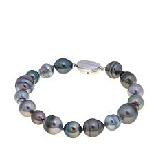 8-11.5mm Cultured Pearl Sterling Silver Bracelet