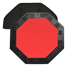 "8-Player 48"" Octagonal Poker Tabletop - Red"