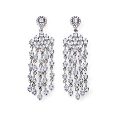 8.24ctw Absolute™ Round Stone Chandelier Earrings