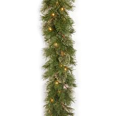 9' Atlanta Spruce Garland w/Lights