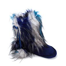 A by Adrienne Landau Faux Fur Plush Booties