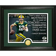 Aaron Rodgers Quote Bronze Coin Photo Mint