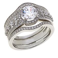 Absolute™ 2.21ctw CZ  Round with Round Sides 3-piece Ring Set