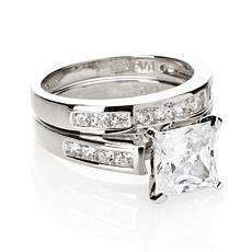 Absolute™ 2.56ctw CZ Princess & Round 2-piece Ring Set