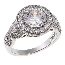 Absolute™ 2.92ctw Cubic Zirconia Sterling Silver Round Milgrain Ring