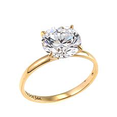 Absolute™ 3ct CZ 14K Round Solitaire Ring