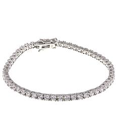 "Absolute™ 5.20ctw Clear CZ Sterling Silver 7"" Line Bracelet"