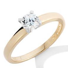 Absolute™ .5ctw Cubic Zirconia Round Solitaire Ring