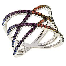 Absolute™ Colors of Simulated Sapphire Rainbow X Ring