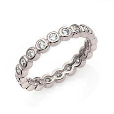 Absolute™ Cubic Zirconia Bezel-Set Round Eternity  Ring