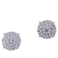 Absolute™ Cubic Zirconia Pavé Cluster Stud Earrings