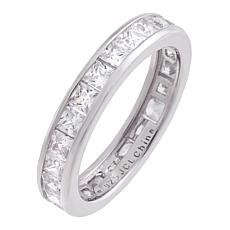 Absolute™ Cubic Zirconia Princess Channel Eternity Ring