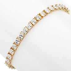 Absolute™ CZ 4mm Princess-Cut Line Bracelet