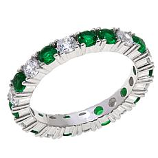 Absolute™ CZ and Simulated Emerald Eternity Ring