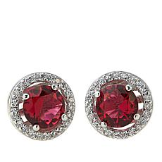 Absolute™ CZ and Simulated Ruby Earrings