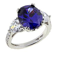 Absolute™ CZ Oval and Multi-Shape 3-Stone Ring