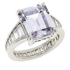 """Absolute™ """"Hall of Mirrors"""" Rhodium-Plated Emerald-Cut & Baguette Ring"""