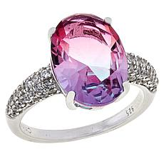 Absolute™ Light Pink-Purple Stone and Cubic Zirconia Ring