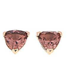 Absolute™ Rose Gold-Plated Morganite Trilliant-Cut Stud Earrings