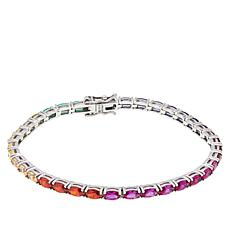 Absolute™ Simulated Colors of Sapphire Rainbow Line Bracelet