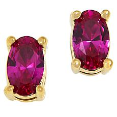 Absolute™ Simulated Gemstone Oval Stud Earrings