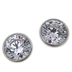Absolute™ Sterling Silver Cubic Zirconia Bezel-Set Stud Earrings