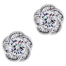 Absolute™ Sterling Silver Cubic Zirconia Love Knot Stud Earrings