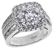 Absolute™ Sterling Silver Cubic Zirconia Square Cluster Ring