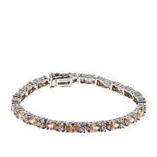 Absolute™ Sterling Silver Mixed-Color Cubic Zirconia Tennis Bracelet