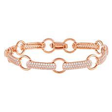 Absolute™ Sterling Silver Open Link Pavé Tennis Bracelet