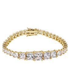 Absolute™ Sterling Silver Quadrillion-Cut Line Bracelet