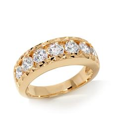 Absolute™ Tension-Set Cubic Zirconia Gold-Plated Sterling Silver Ring