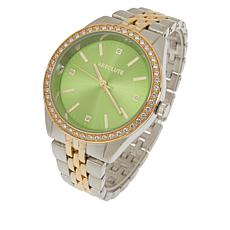 Absolute™ Women's Cubic Zirconia Colored Dial Bracelet Watch
