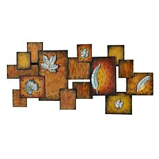 Abstract Wall Art Panel - Leaves