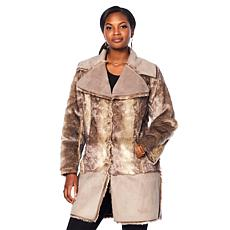 Adrienne Landau Reversible Faux Fur Coat