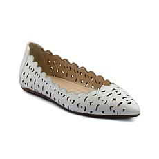Adrienne Vittadini Forst Leather Slip On Flat