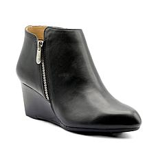 Adrienne Vittadini Meriel Wedge Ankle Leather Booties