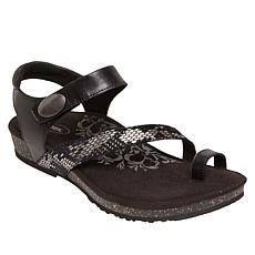 Aetrex® Georgia Toe Loop Leather Sport Sandal