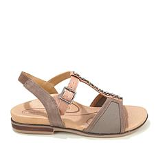 Aetrex® Leanna Adjustable Strap Stretch Sandal