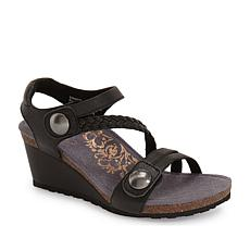 Aetrex® Naya  Wedge Sandal  with Lynco™ Orthotics