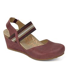 "Aetrex® ""Olivia"" Leather Mary Jane with Stretch Strap"