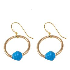 "Akola ""Eternal Hoop"" Karatasi Bead  Circle Drop Earrings"