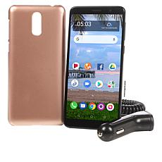 "Alcatel 5.5"" HD+ Android Tracfone with 1500 Minutes, Texts and Data"