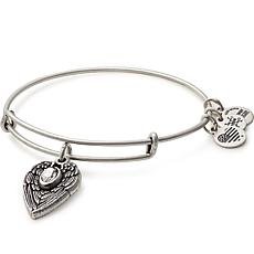 "Alex and Ani ""Guardian Angel"" Expandable Bangle Charm Bracelet"