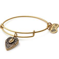 "Alex and Ani ""Guardian Angel"" Expandable Bangle Charm Bracelet"