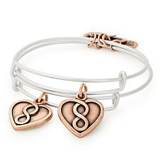 Alex and Ani Mother and Daughter Expandable Bangle Bracelet Set