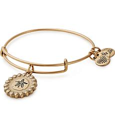 Alex and Ani Sand Dollar Color Infusion Charm Bangle - Goldtone