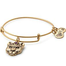 "Alex and Ani ""Wild Heart"" Adjustable Bangle Crystal Charm Bracelet"